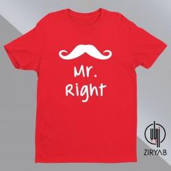 Mr Right design T-shirt Hoodie Sweatshirt